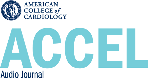 ACCEL Audio Journal Logo from the American College of Cardiology